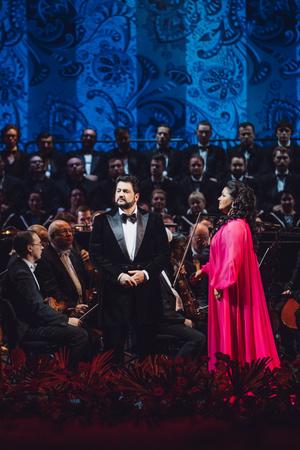 Ложи блещут: первый совместный концерт Анны Нетребко и Юсифа Эйвазова в Большом театре (фото 1.1)