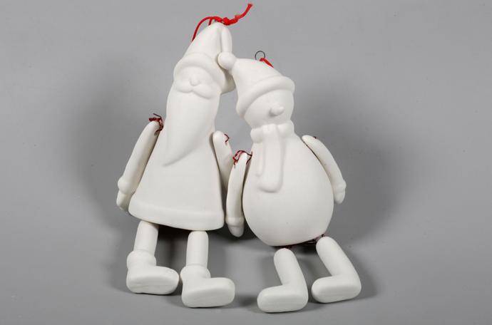 Подвесные украшения « Санта Клаус и Снеговик»