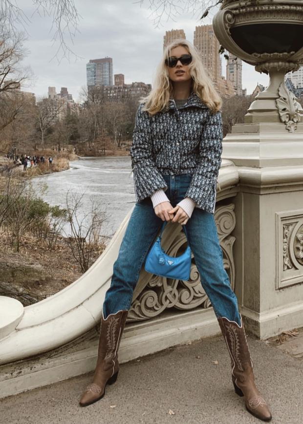 Когда за окном чуть ниже нуля: теплой зимой носите короткий пуховик как Эльза Хоск (фото 3)