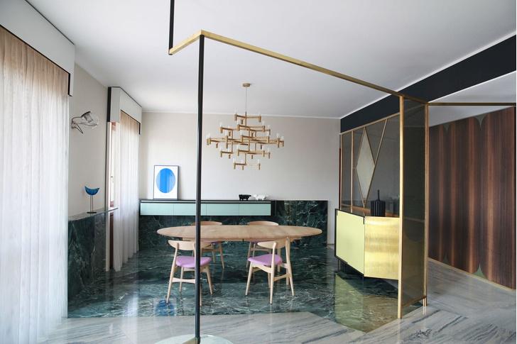 Переливы мрамора: необычный интерьер миланской квартиры (фото 5)