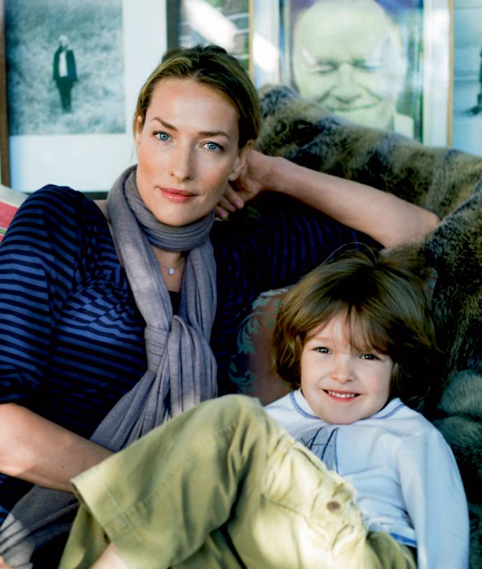 Татьяна Патиц с сыном Йоной