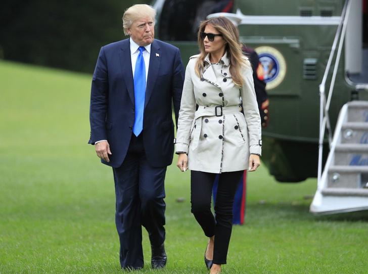 Мелания Трамп в Burberry фото