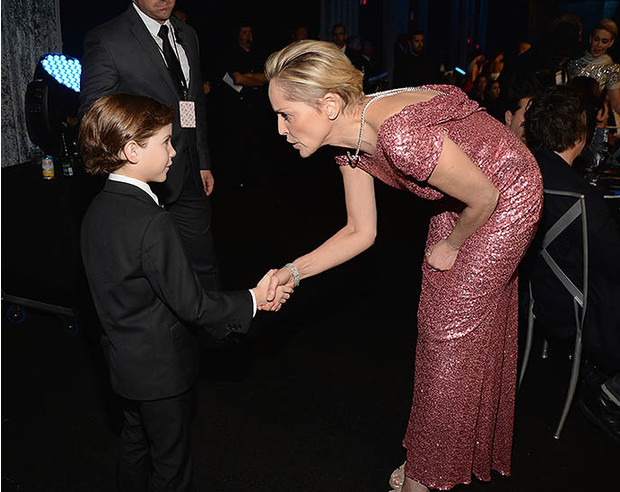 Шэрон Стоун и 9-летний актер Джейкоб Тремблэ