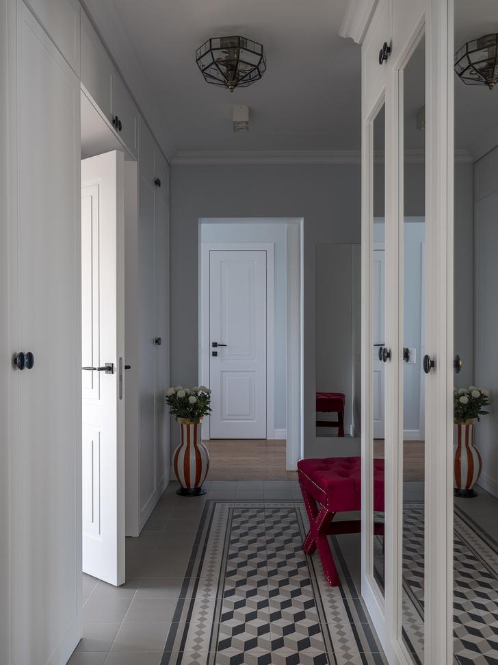 Дитя заката: фламинго и другие яркие  решения в типовой квартире 55 м² (фото 11)