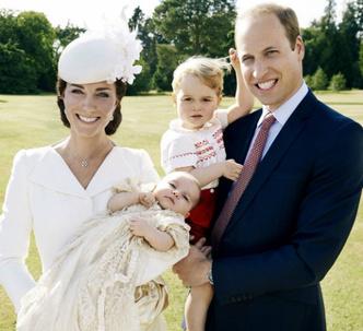 Кейт Миддлтон, принц Уильям, принцесса Шарлотта и принц Георг