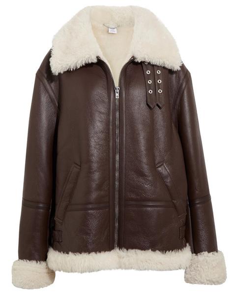 Зимние куртки из кожи с мехом фото