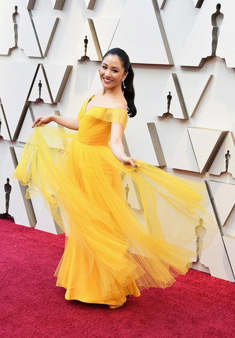 Констанс Ву в Atelier Versace на «Оскар-2019» (фото 1.1)