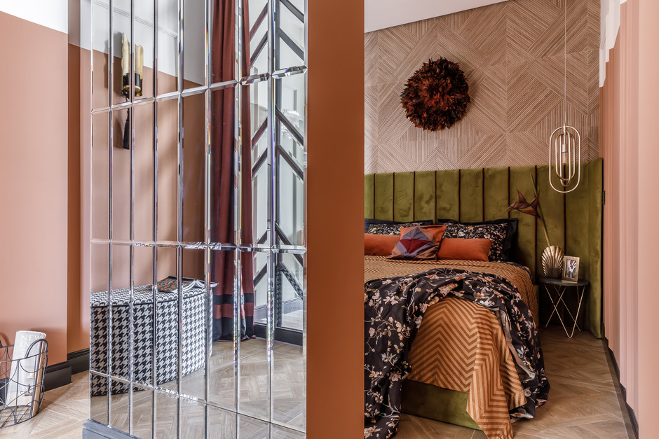 Деревянные панели в спальне: 15 примеров (галерея 1, фото 3)