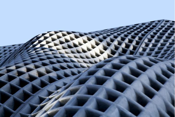 Невесомый бетон: экспериментальный фасад в Пекине (фото 6)