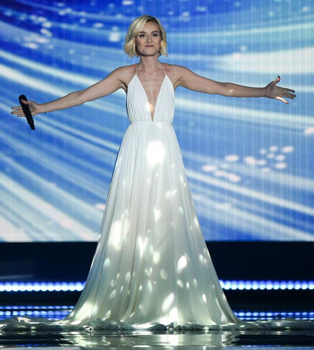 Полина Гагарина в Alexander Terekhov в полуфинале «Евровидения»