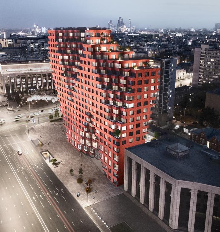 Началось строительство 80-метровой башни RED7 в Москве (фото 0)