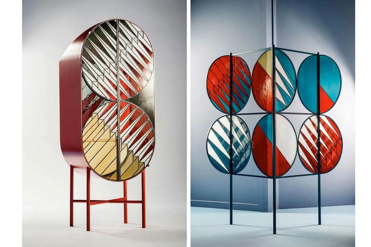 Шкаф и ширма, дизайн Патрисии Уркиолы и Федерико Пепе для бутика Spazio Pontaccio