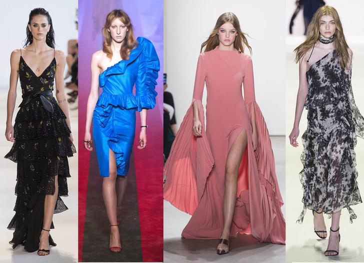 Модные платья с воланами 2017