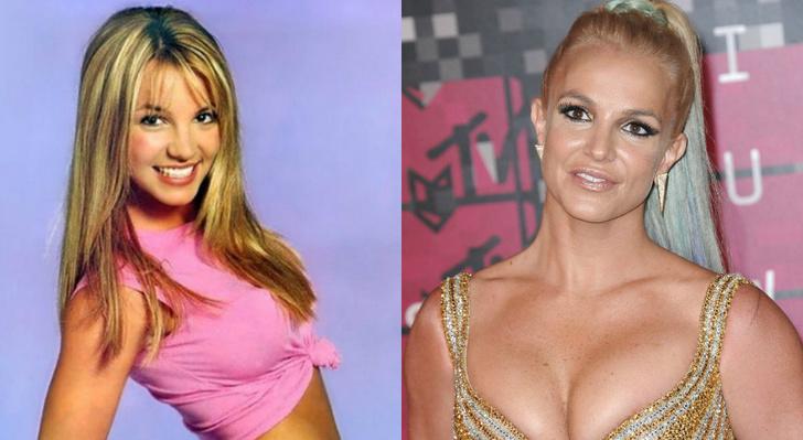 Бритни Спирс до и после