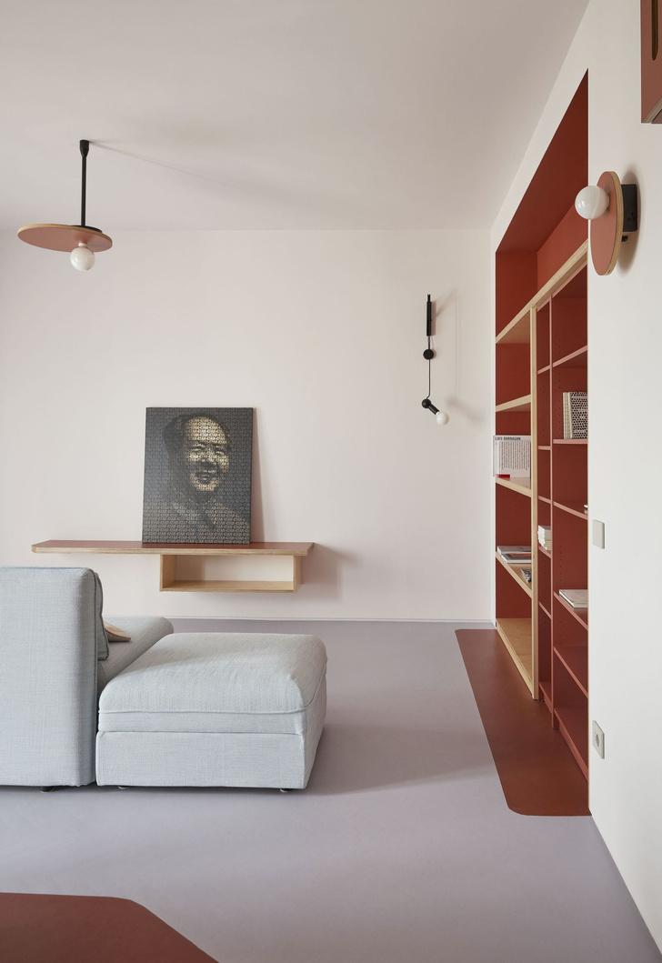 Квартира 75 м² в терракотовой гамме в Милане (фото 4)