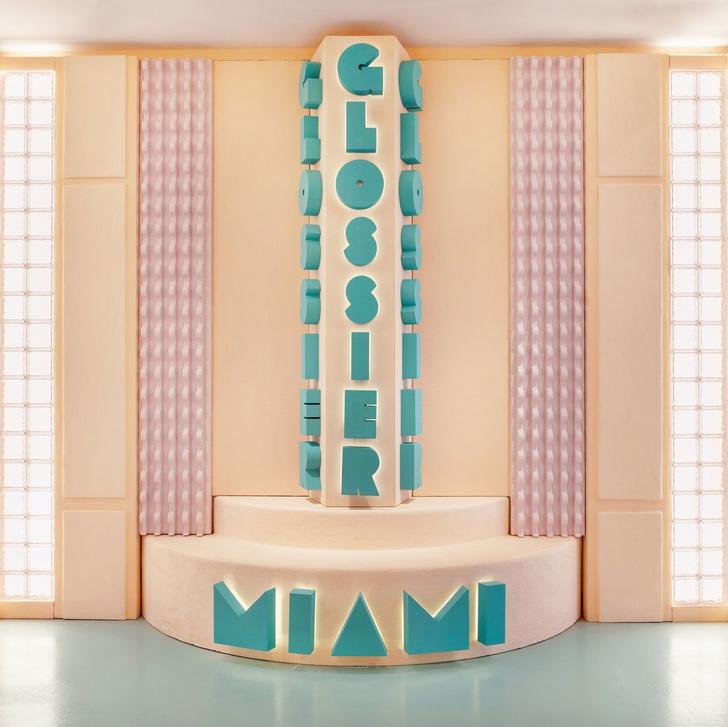 Эклектичный pop-up бутик Glossier в Майами (фото 8)