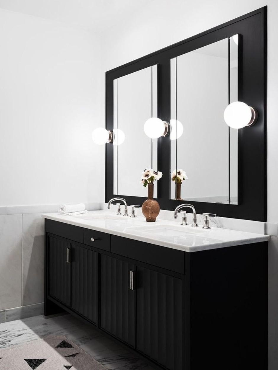 Одна ванная, две раковины: 20 примеров (галерея 1, фото 4)