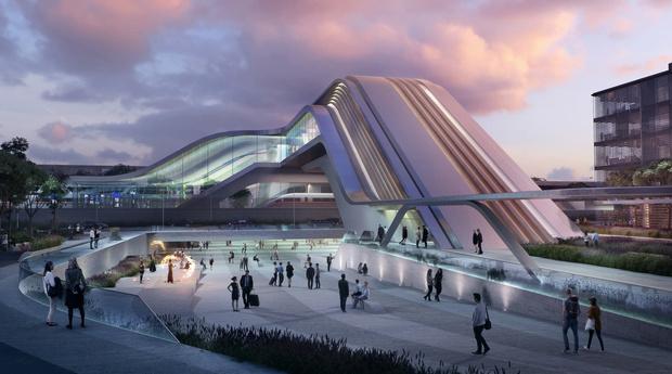 Zaha Hadid Architects построит в Таллинне мост-вокзал (фото 0)