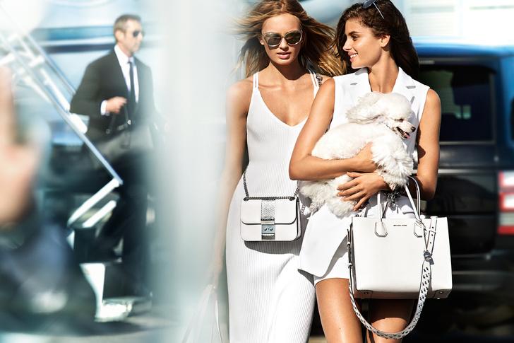 Тейлор Хилл и Роми Стрейд в рекламной кампании MICHAEL Michael Kors