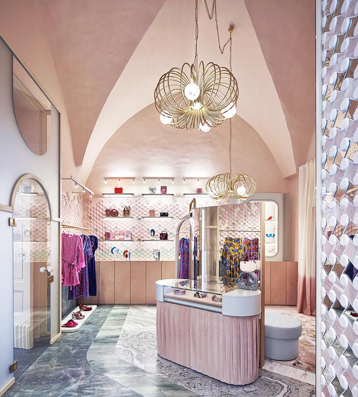 Нежно-розовый бутик по дизайну Кристины Челестино (фото 0)