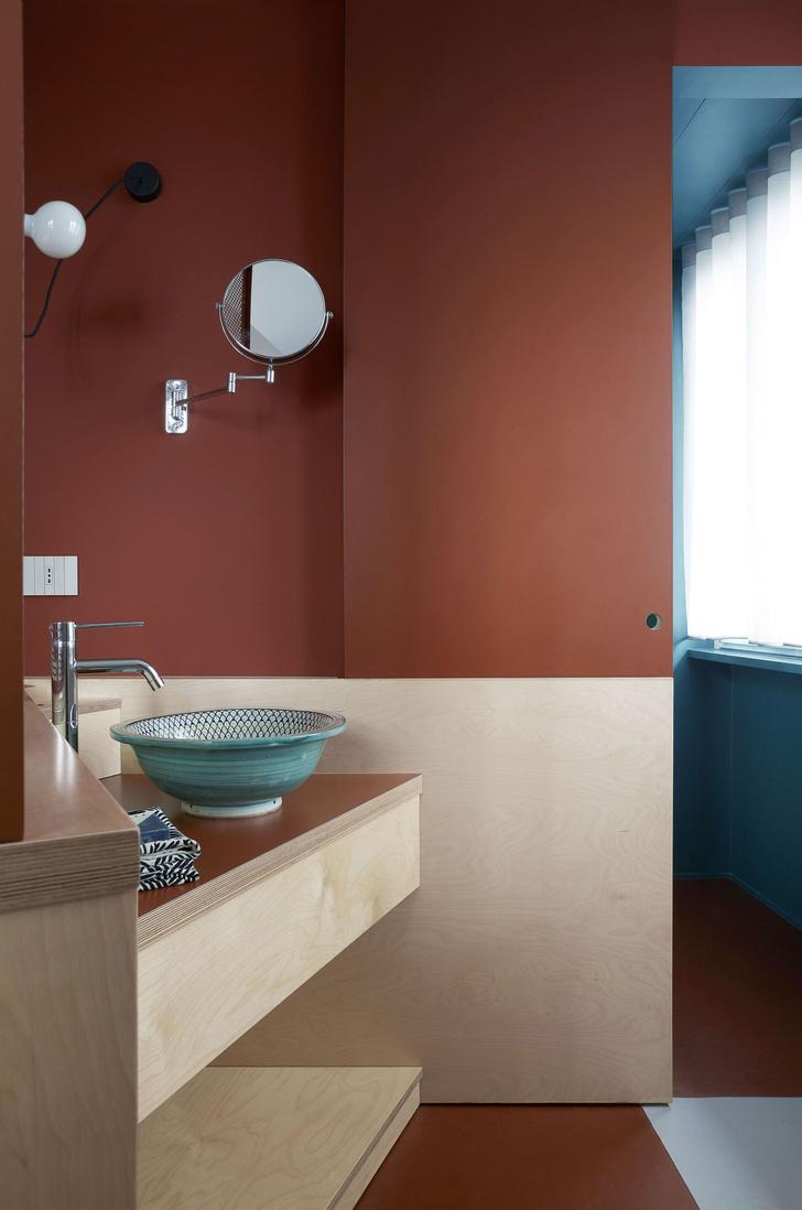 Квартира 75 м² в терракотовой гамме в Милане (фото 11)