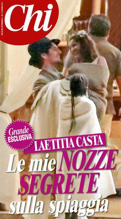 Летиция Каста и Луи Гаррель свадьба