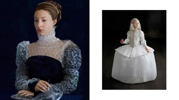 Художница превратила переработанный пластик в костюмы эпохи Ренессанса (фото 1)