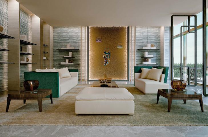 Холл жилого комплекса FENDI Château Residences. Мебель и аксессуары — Fendi Casa.