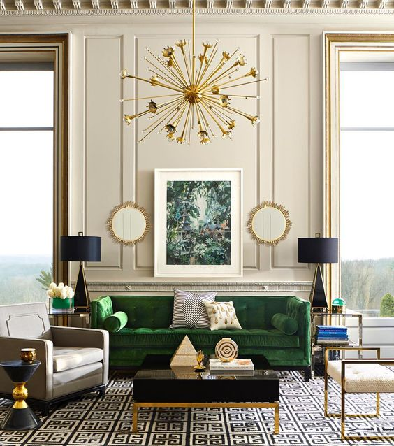 Гостиная в стиле ар-деко: 10 примеров (галерея 0, фото 4)
