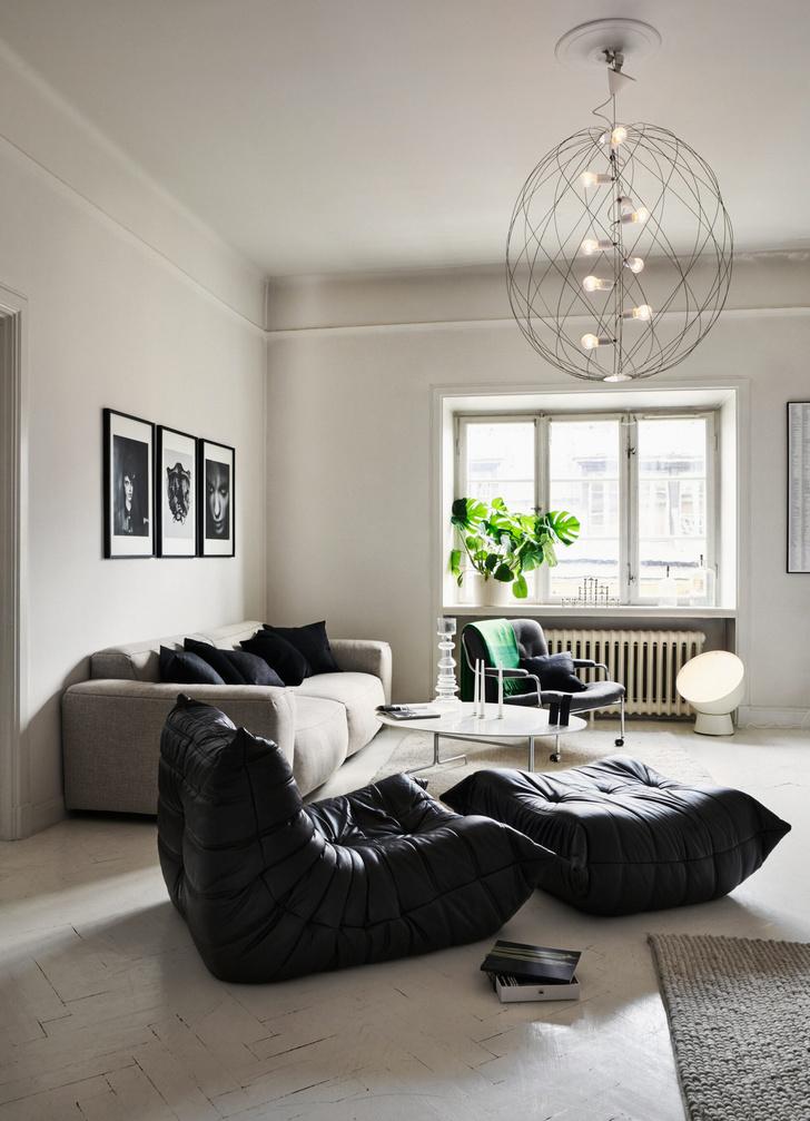 Монохромная квартира для дизайнера в Стокгольме (фото 0)