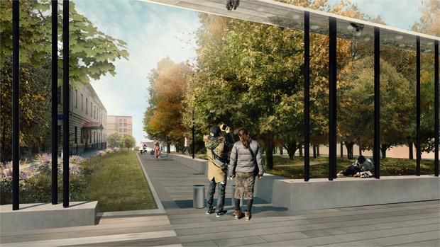 Новый вход в парк Горького по проекту бюро Wowhaus (фото 4)