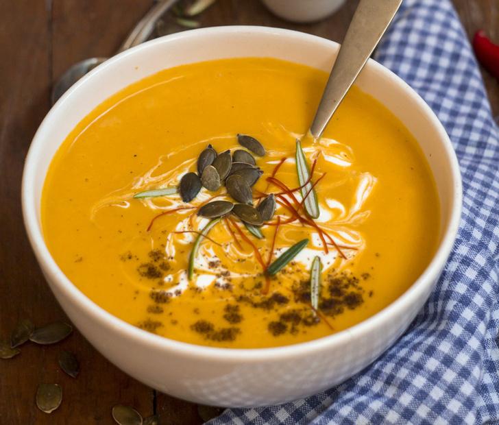 Тыквенный суп-пюре с кокосом