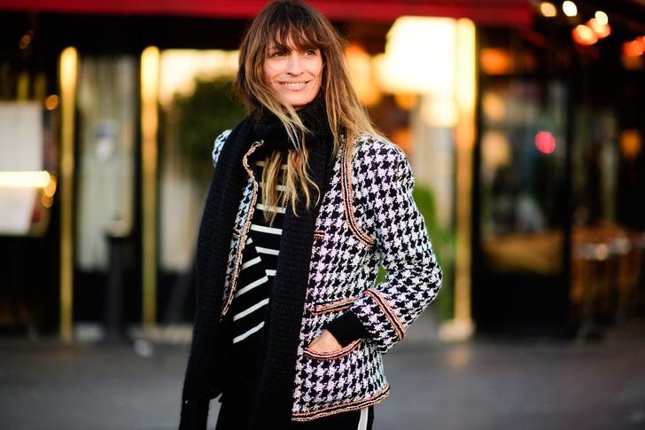 Самые модные люди на улицах Парижа (фото 41)