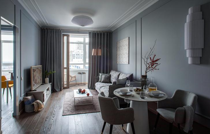 Квартира в серо-голубой гамме (фото 0)