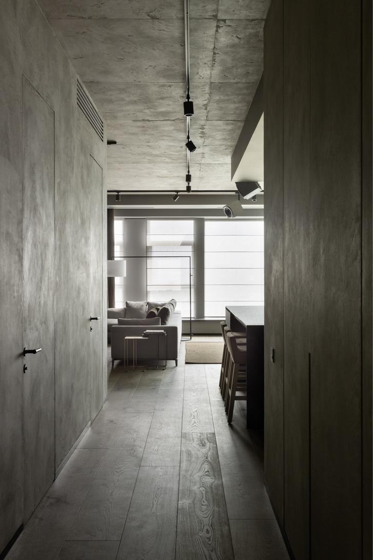 Брутальный интерьер квартиры в Москве (фото 0)