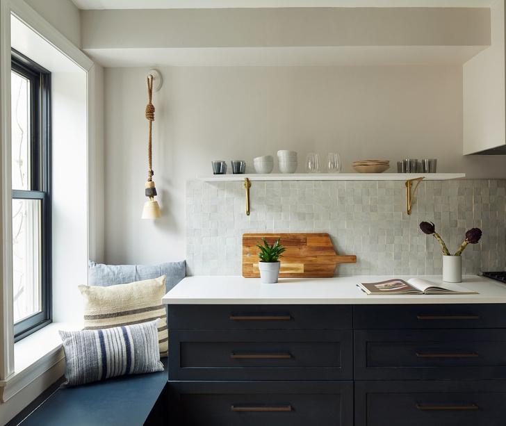 Открытые полки на кухне: 20 примеров (галерея 1, фото 11)