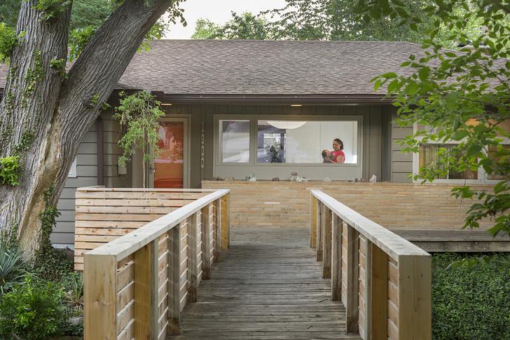 Ранчо в стиле мидсенчури в Канзасе (фото 5)