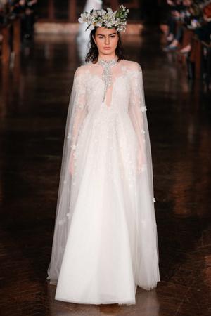 Показ Reem Acra коллекции сезона Весна-лето 2019 года Bridal - www.elle.ru - Подиум - фото 718071