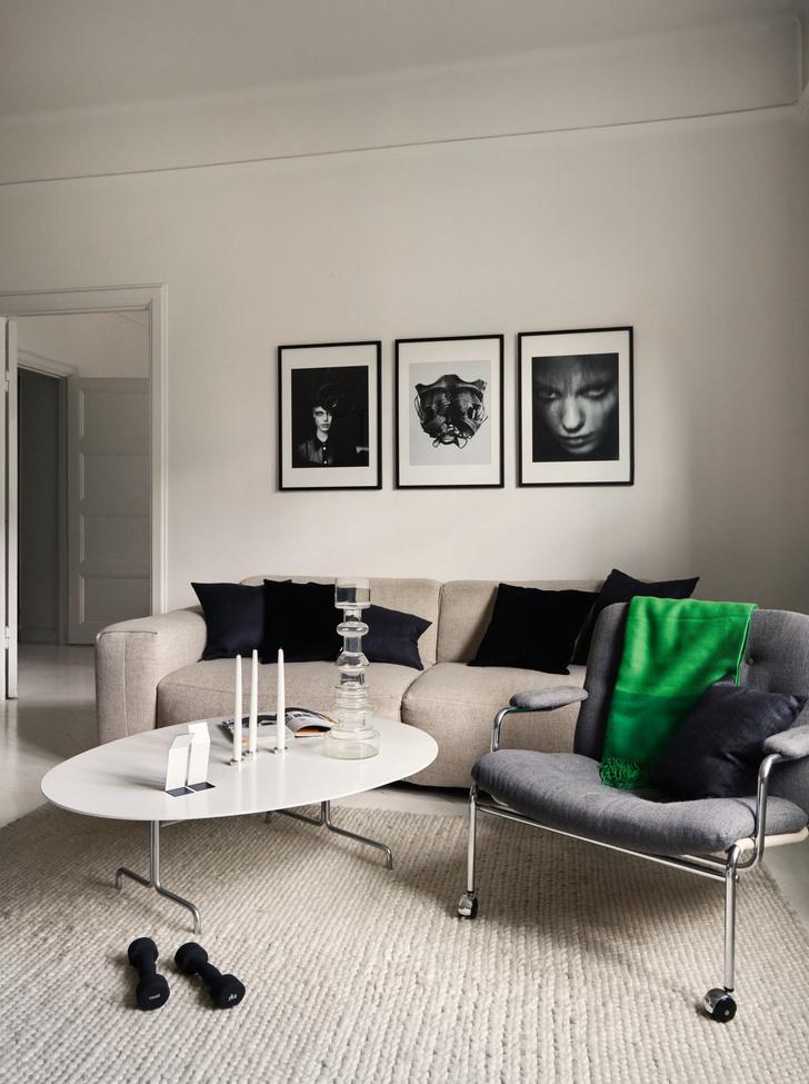 Монохромная квартира для дизайнера в Стокгольме (фото 5)