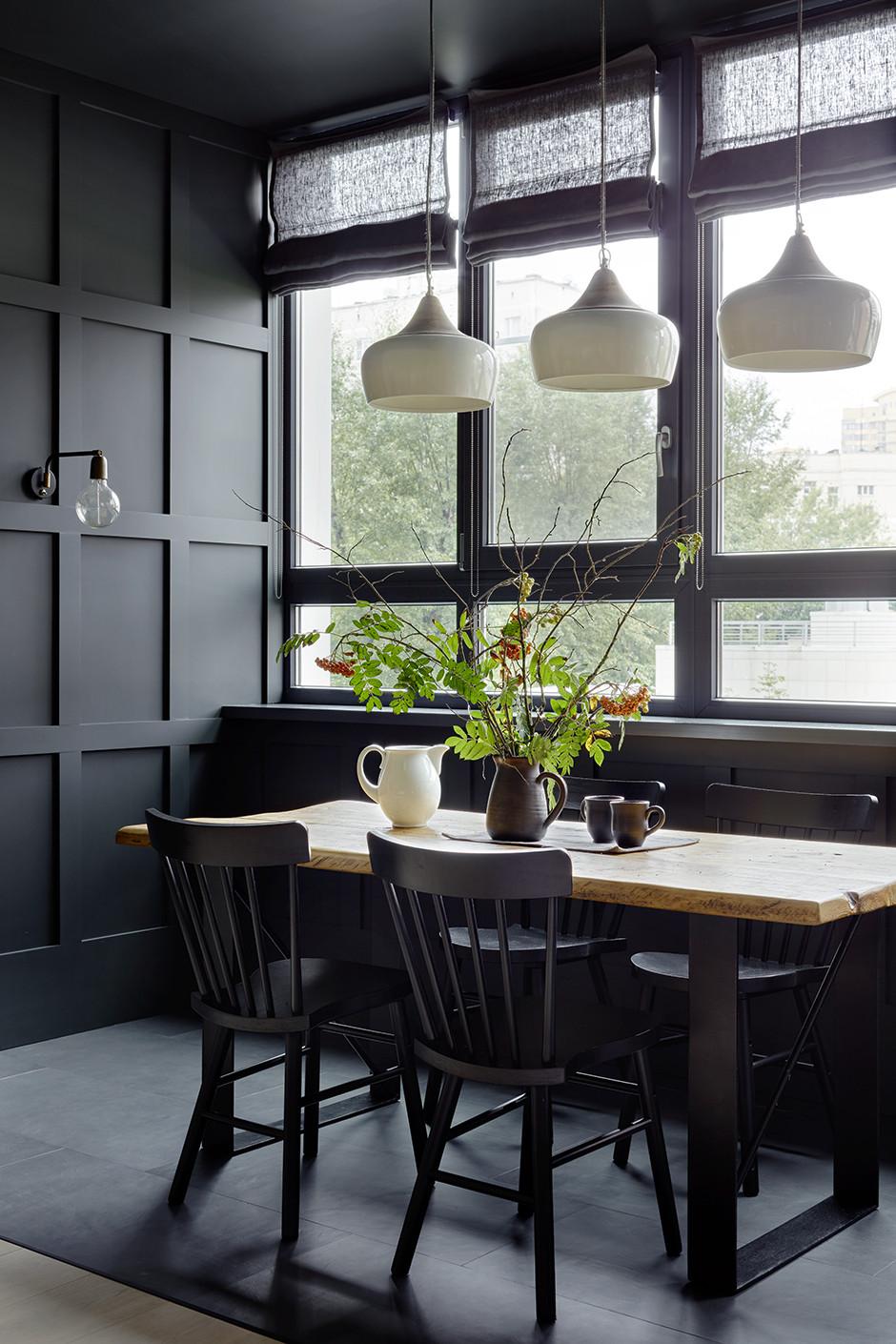 30 идей для кухни в темных тонах (галерея 0, фото 0)