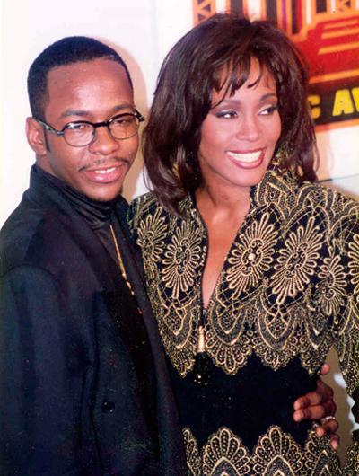 Уитни Хьюстон и Бобби Браун на церемонии Soul Train Awards в 1994 году