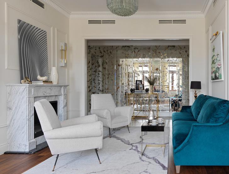Квартира для семьи с тремя детьми в классическом стиле 140 м² (фото 3)
