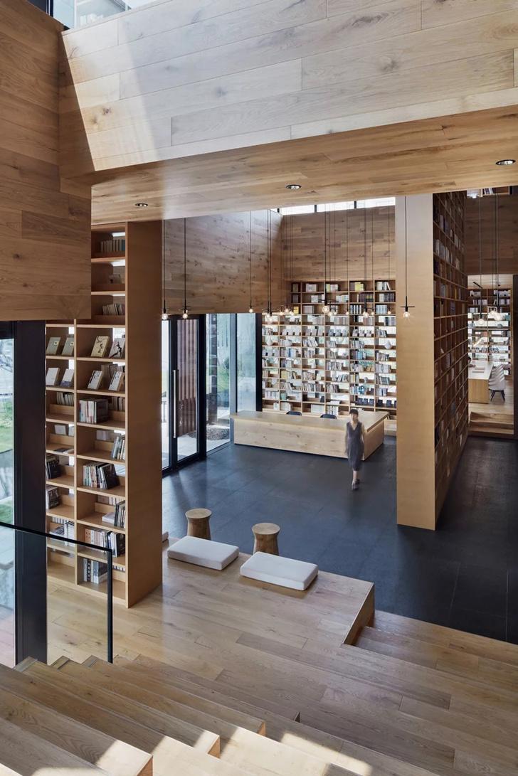 Деревянная библиотека в Ханчжоу (фото 5)