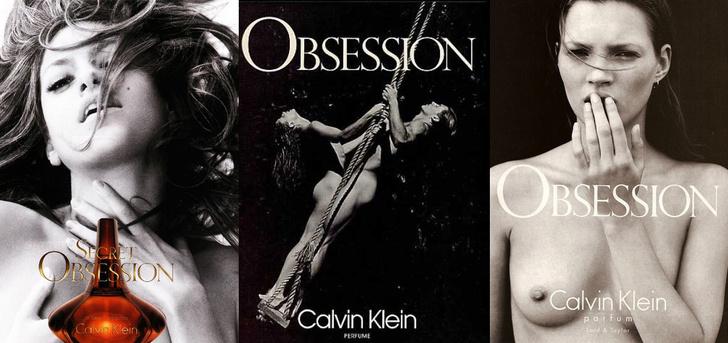 Рекламные принты аромата Calvin Klein Obsession
