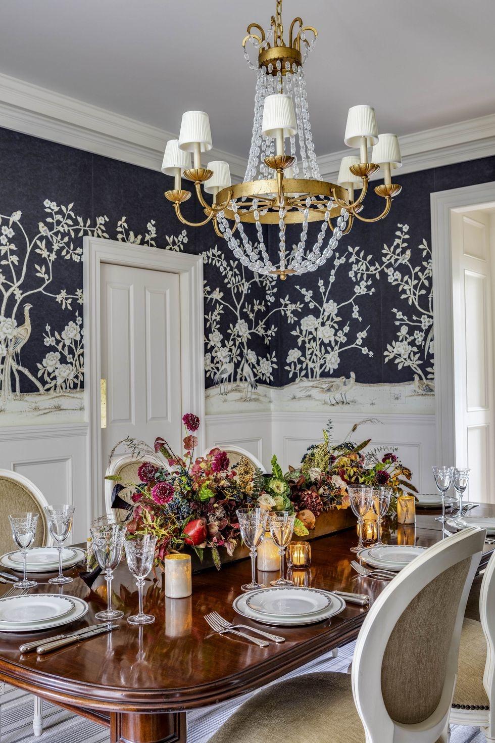 Обои в цветочек в столовой: 25+ вдохновляющих примеров (галерея 1, фото 2)