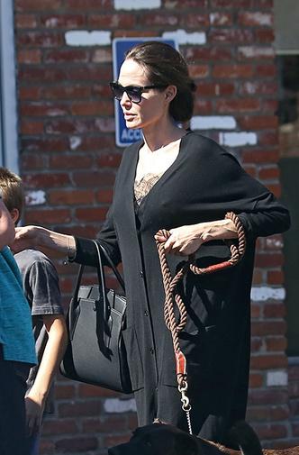 Новый выход Анджелины Джоли с сыном Ноксом фото [3]