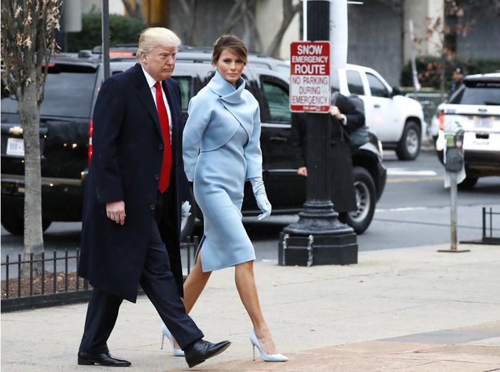 Мелания Трамп на инаугурации президента США фото
