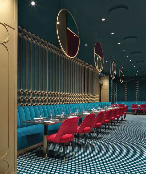 Современный ар-деко: ресторан в Риме (фото 5)