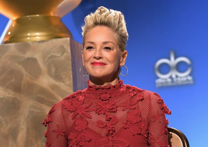 Леди в красном: 59-летняя Шэрон Стоун в платье Maison Valentino (фото 5)