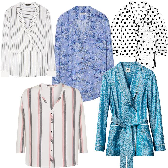 Блузки в пижамном стиле